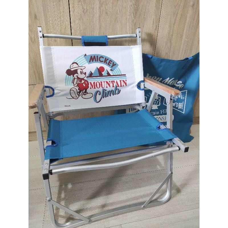 7-11米奇摺疊露營椅(藍色)