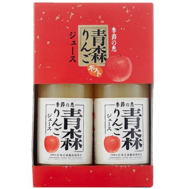 好市多 季節の恵 青森純蘋果汁 2瓶x1公升 非還原濃縮 青森蘋果 青森蘋果汁 日本製 季節的恩惠