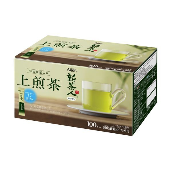 日本AGF 新茶人 即溶上等煎茶 100入 P010594
