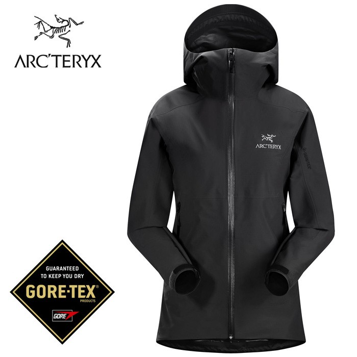 【ARCTERYX 始祖鳥 加拿大】ZETA SL 防水外套 GORE-TEX 女款 黑色 (L07130000)