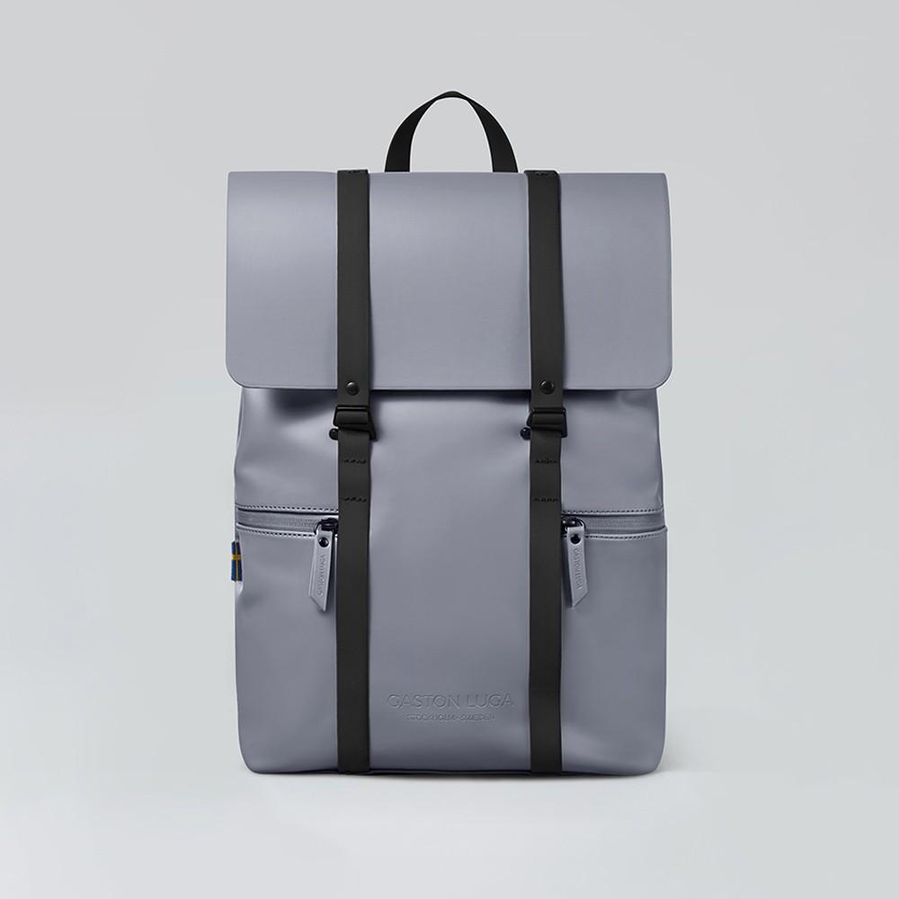 Gaston Luga 瑞典品牌 - 個性後背包 Splash 時尚灰/經典黑(台灣公司貨)
