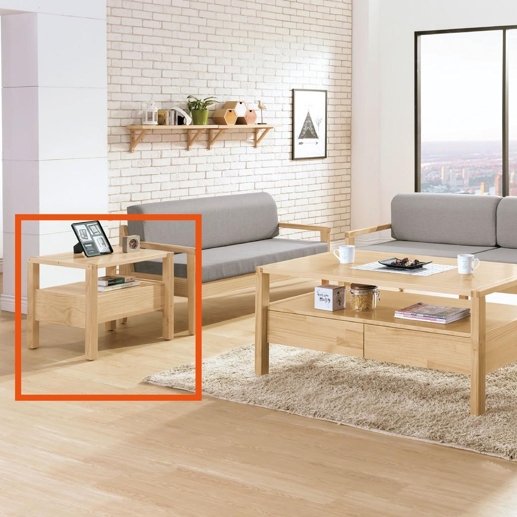 【60cm小茶几-B280-03】實木原木玻璃 大理石長方桌 大小邊几 圓桌 【金滿屋】