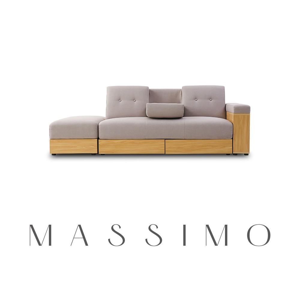 Modern deco︱麥西蒙日式多功能收納沙發床-5色【SS001】