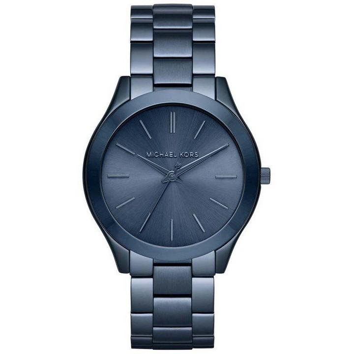 MICHAEL KORS MK3419 手錶 42mm 金屬藍錶框 鋼錶帶 女錶
