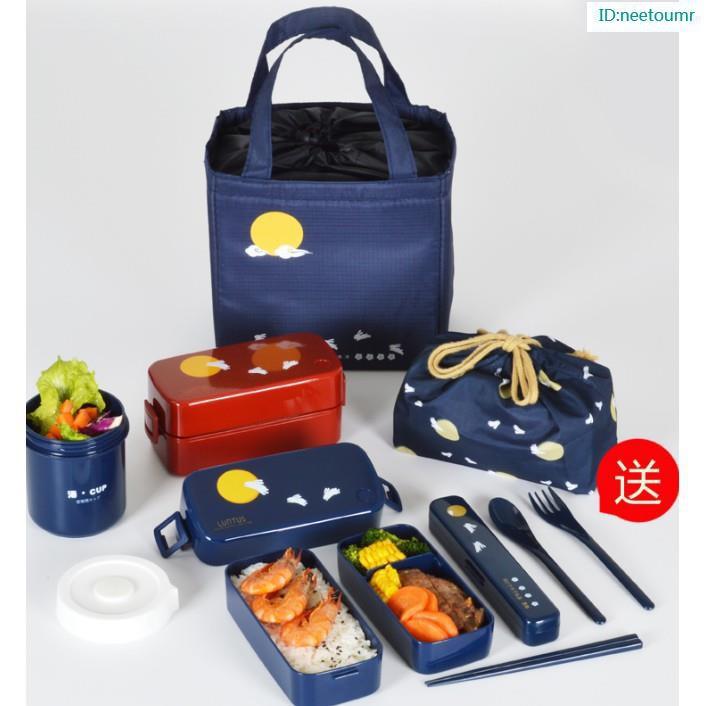 【蝦皮熱賣】爆款#日本ASVEL雙層飯盒便當盒日式餐盒可微波爐加熱塑膠 分隔午餐盒