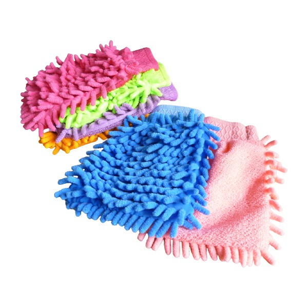1021 雪尼爾超纖絨魔術洗車除塵手套(單支賣) 除塵手套 抹布擦車套 清潔手套