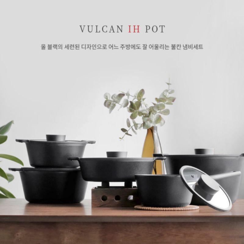 韓國NEOFLAM VULCAN系列 不沾鍋 不沾平底鍋 炒鍋 單柄鍋 雙耳鍋 牛奶鍋 雙耳燉鍋 黑色鍋具