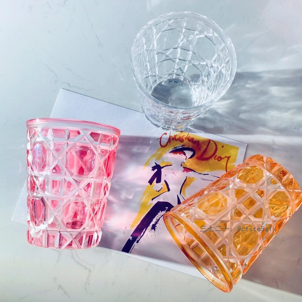 Dior 迪奧 藤格紋水晶杯禮盒 超火的彩色杯子 6個水晶色夢幻色組合 聖誕禮物 交換禮 男女 情侶杯