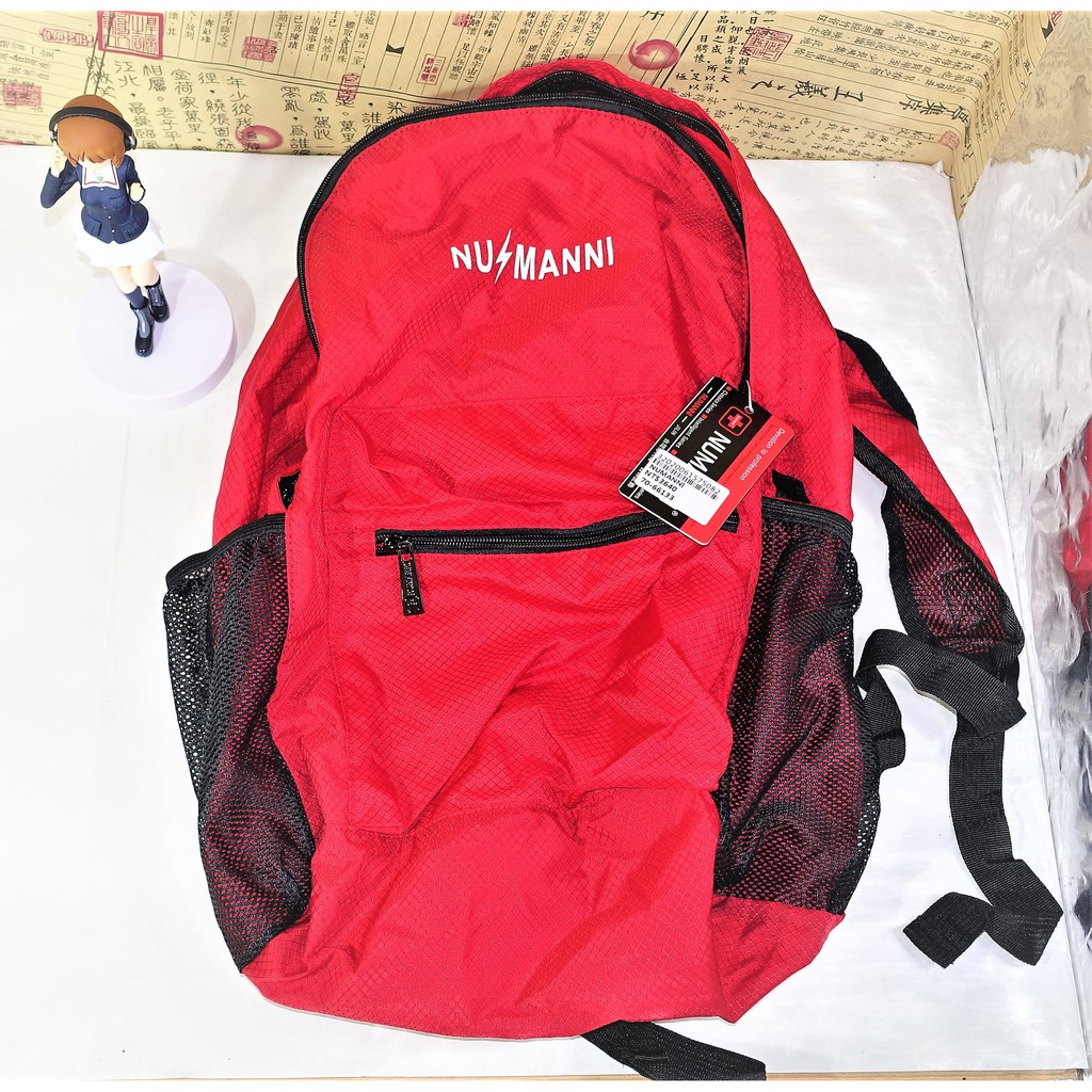 「出清便宜賣」【正版】NUMANNI 奴曼尼 防潑水 後背包 背包 包包 書包 防水 摺疊 收納 收納包 收納袋 大容量