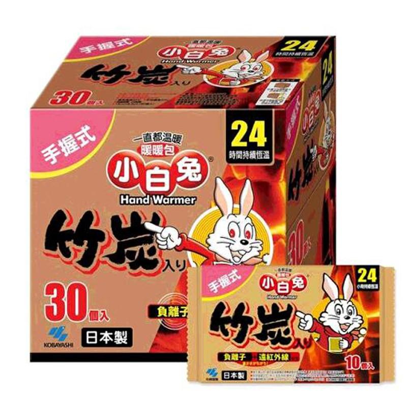 KOBAYASHI HAND WARMER 日本小白兔握式暖暖包 24小時持續恆溫/30入 C45678