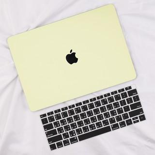 奶油黃 奶油殼 蘋果筆電 Apple Macbook Air Pro 13 15 保護殼 Mac外殼 電腦殼 鏤空 平面