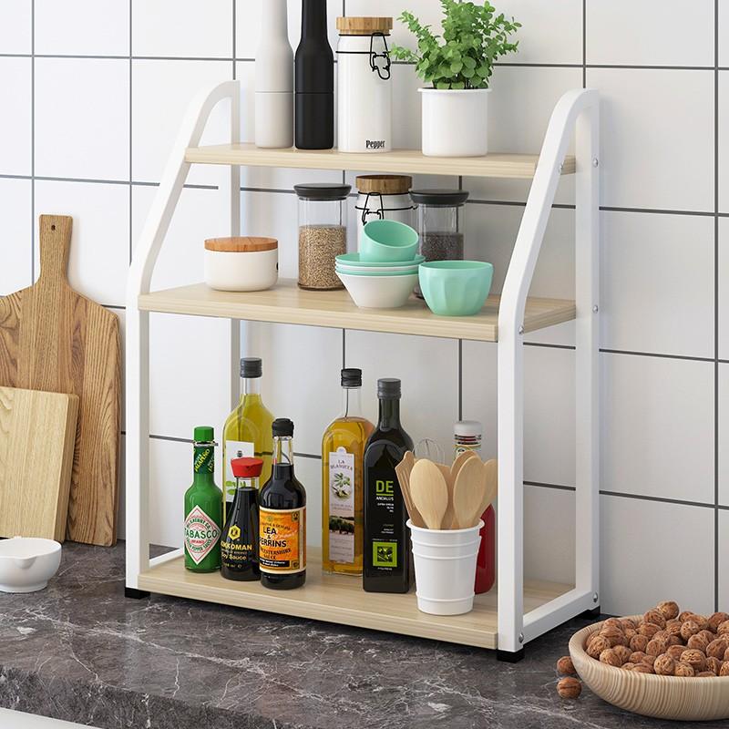 廚房收納置物架小架子臺面儲物架多層落地式多功能調料收納架家用a1n3win0sb