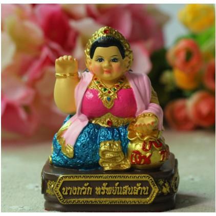 【熱銷】古巴阿裏雅察 2554年 供奉型佛像 招財女神 守財女神泰國
