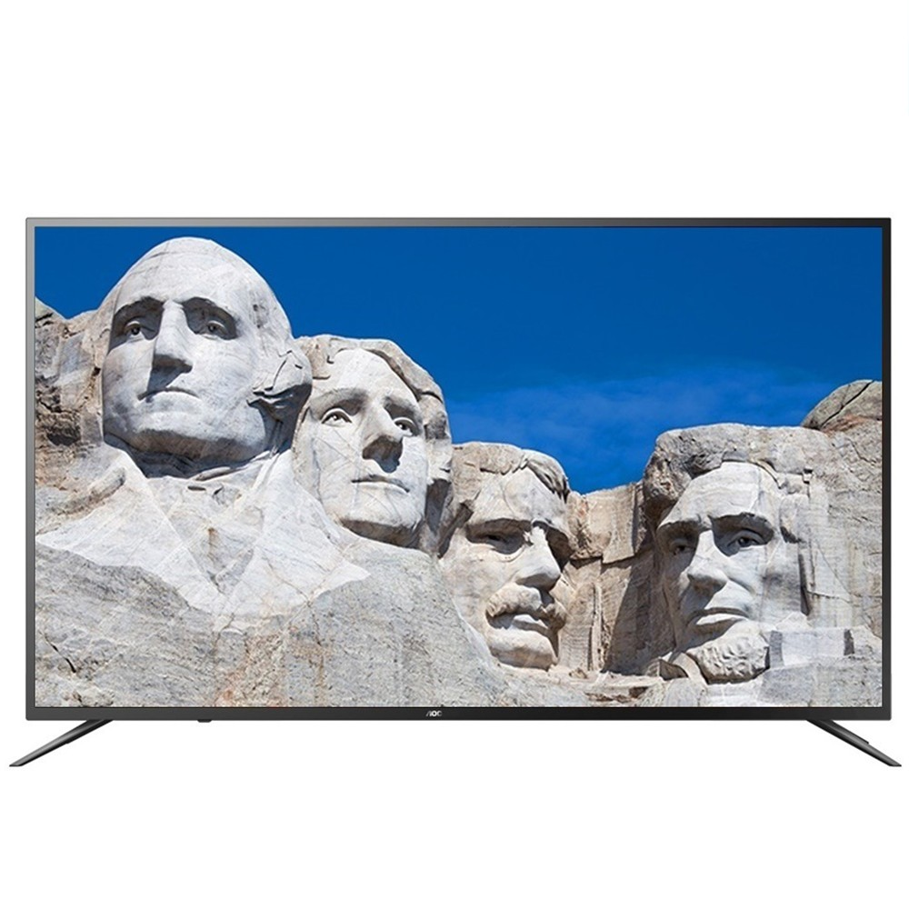 缺貨改出58U6195(+500)【美國AOC】55吋4K HDR智慧聯網液晶顯示器+視訊盒55U6090