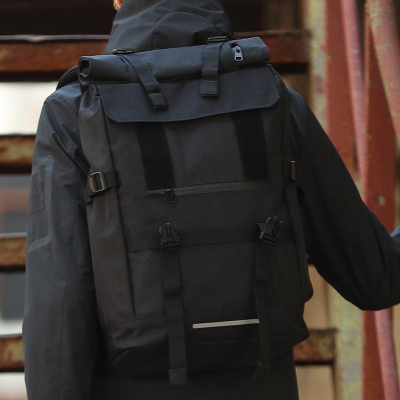 【現貨立發】 韓版2020爆款卷蓋背包雙肩包男士旅行包戶外USB接口休閒時尚潮流大學生書包運動包