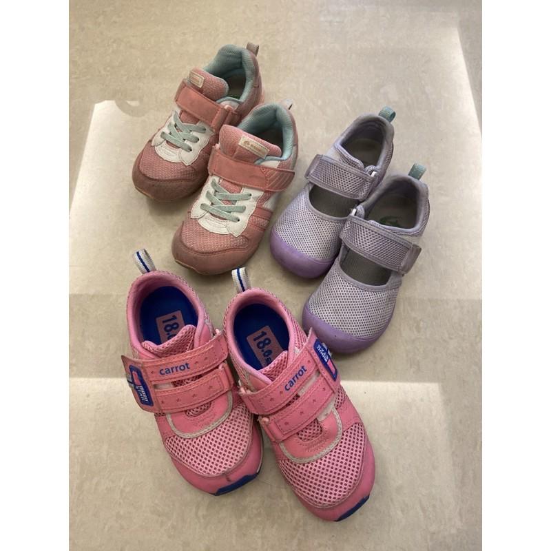 moonstar月星女童鞋 18、19公分 二手