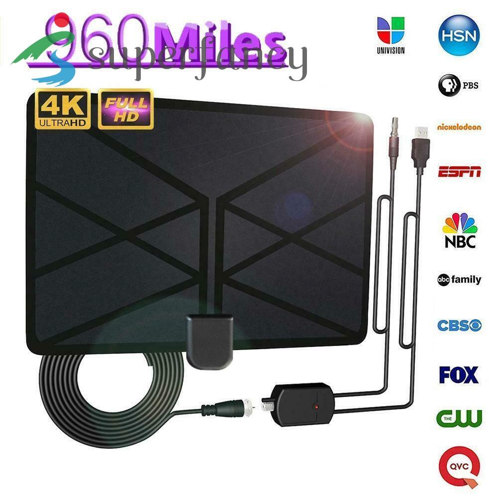 960 英里範圍天線電視數字 4k 高清數字室內高清電視 1080p 天空線 Antena