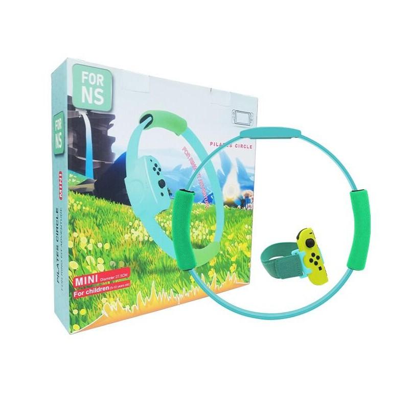 Switch 動森配色 迷你版健身環 + 腿袋套裝 (HBS-179D) 副廠健身環 兒童用健身環