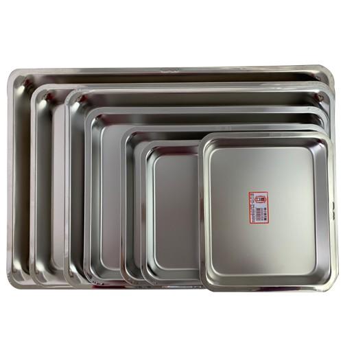 【廟口淺方盤(正白鐵304台灣製造)】白鐵盤不鏽鋼方盤托盤水果盤白鐵消毒盤自助餐烤盤料理盤茶盤