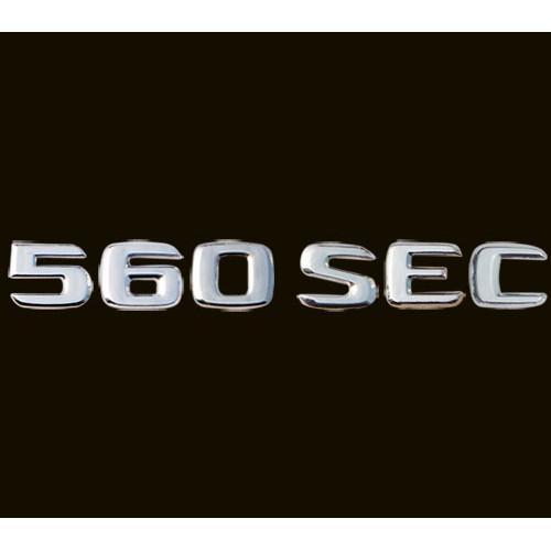 圓夢工廠 Benz W124 560SEC 1985~1995 改裝 鍍鉻銀 後車箱尾門字標 標誌 字貼 字型同原廠款式