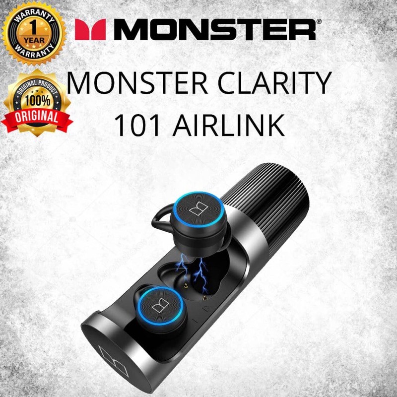 🔥台灣現貨立馬出貨☄️Monster Clarity 101 Airlinks 真無線藍牙耳機|魔聲調音 震撼音質💯