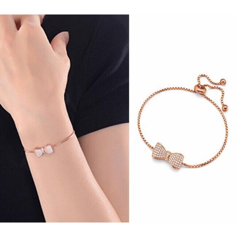 日系925純銀鍍玫瑰金手鍊