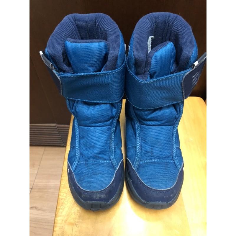 二手迪卡儂兒童 -10°C防水防滑登山雪鞋 (魔鬼氈設計) QUECHUA SH100雪靴