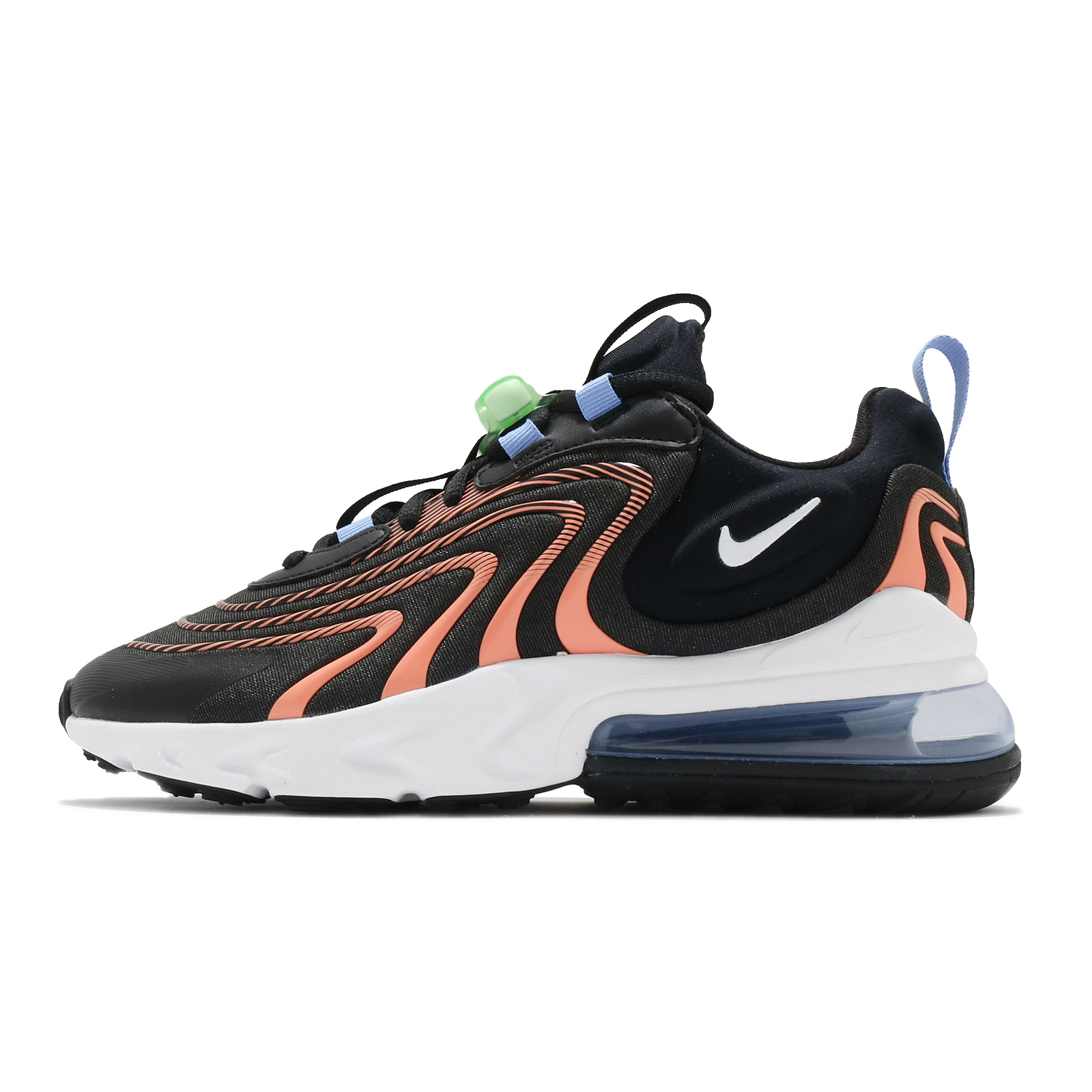 Nike Wmns Air Max 270 React ENG 黑 橘 綠 女鞋 氣墊 【ACS】 CW8605-001