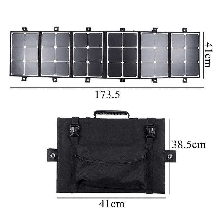 便攜式sunpower150W太陽能儲能折疊式包戶外便攜充電寶光伏發電板