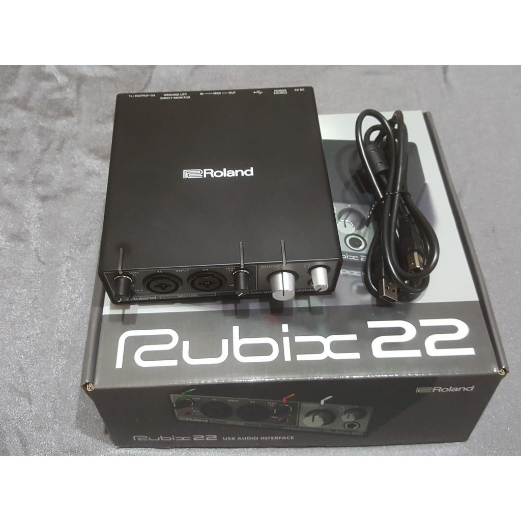 【二手良品】Roland Rubix 22 新款錄音介面