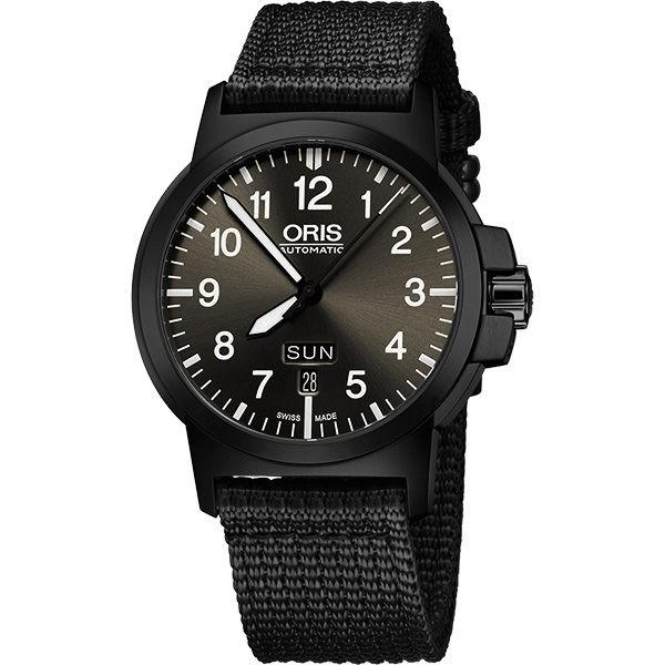 ORIS 豪利時 BC3 Advanced 日曆星期機械手錶-鐵灰x黑/42mm (0173576414733)