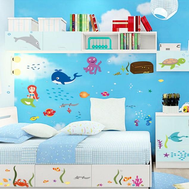 【五象設計】壁貼 貼紙 海洋世界 兒童房幼稚園佈置