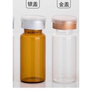 精華液安瓶專用西林瓶10ml茶色透明色兩色可選,零售批發,300支以上可另外詢價,現貨 臺南市