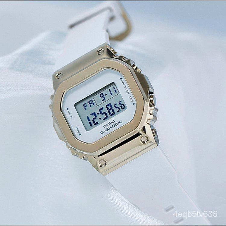 卡西歐CASIO女錶G-SHOCK玫瑰金女士手錶小方錶GM-S5600PG-1/4/7PR g3CV