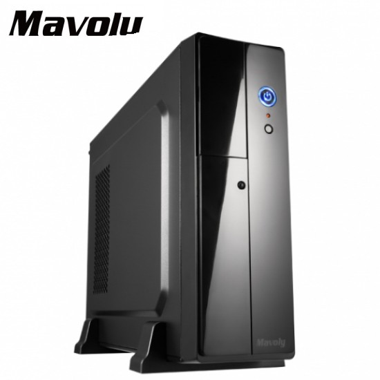 Mavolu 松聖 九公升 電腦機殼 小機殼 直立式 橫躺式 一大一小 M-ATX主機板 內附400W電源供應器