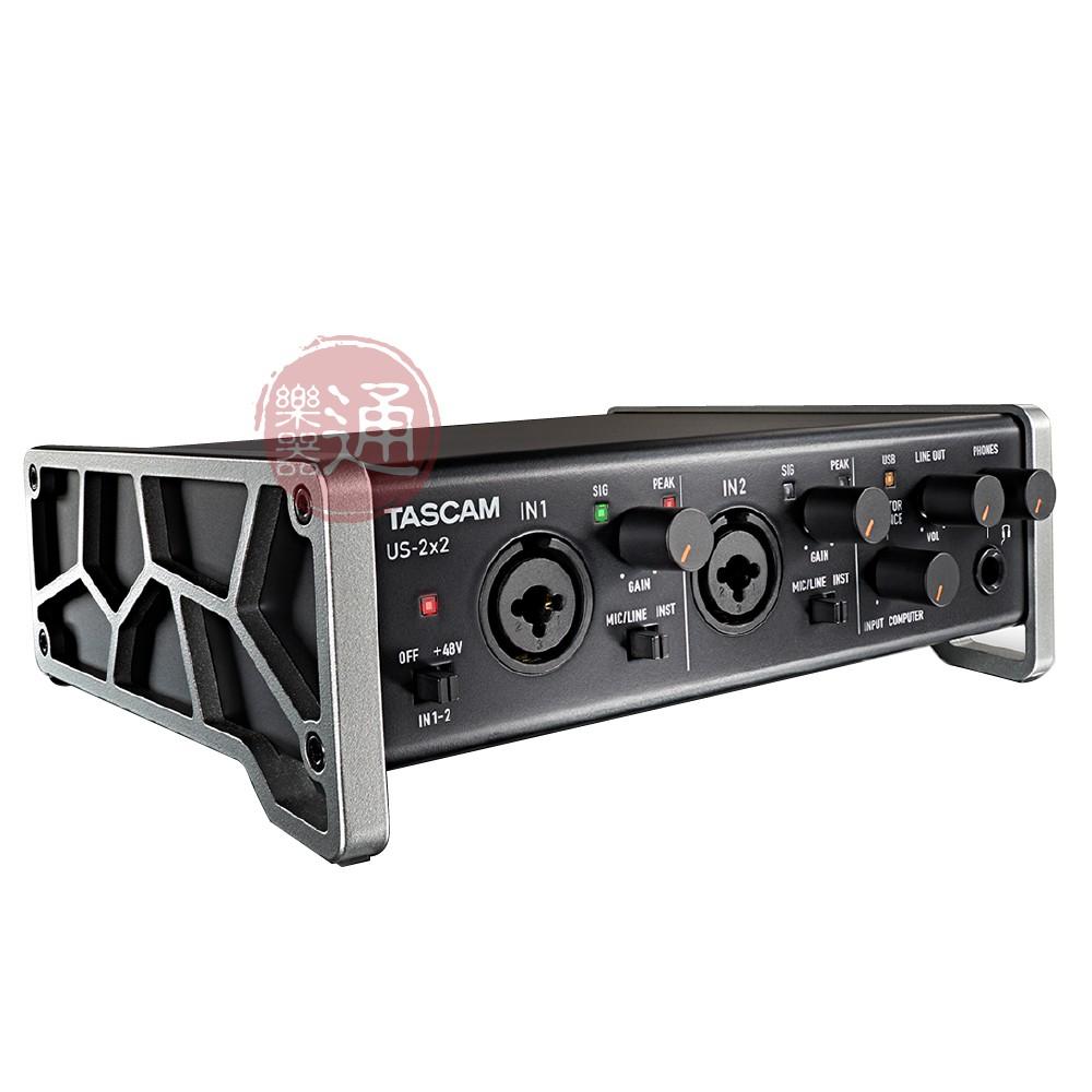 Tascam / US-2x2TP USB錄音介面套組(含麥克風、耳機)【樂器通】