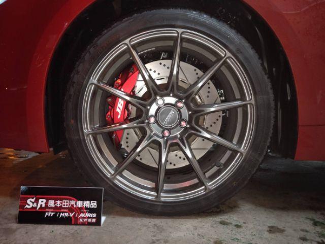 JBT卡鉗組 四 六活塞卡鉗 金屬油管 來令片 雙片浮動式碟盤Honda Fit3 Fit3.5 Hrv