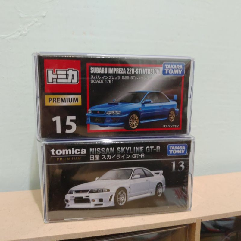 Tomica premium 15 subaru impreza 13 gtr 黑盒 兩車一組 絕版