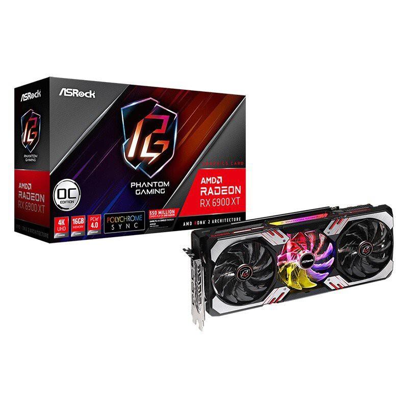 華擎(ASRock)AMD RX 6700XT/6800XT/6900XT 7nm 電競遊戲顯卡