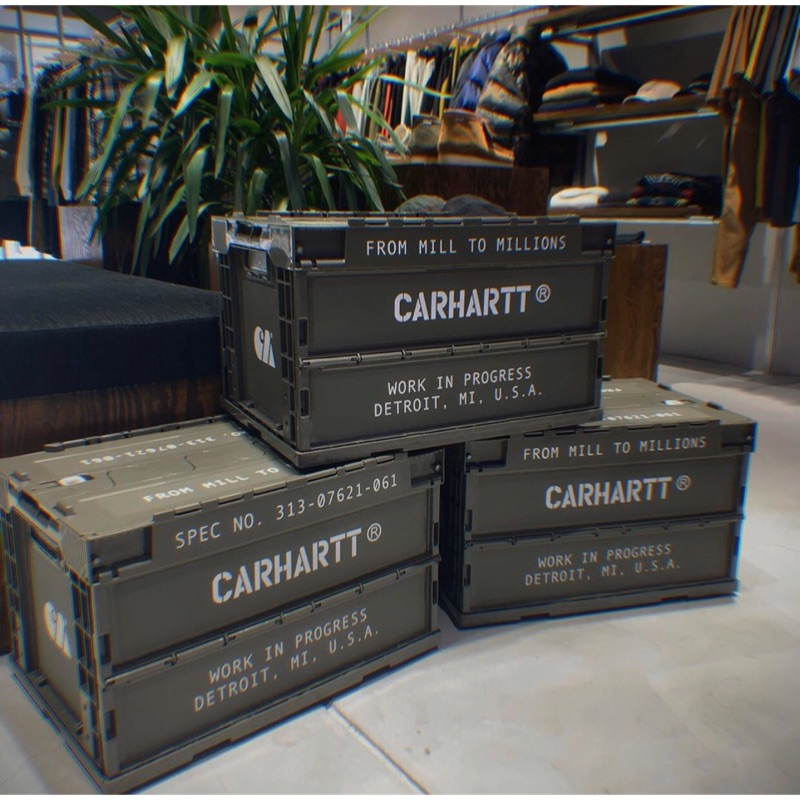 《完售》台灣公司貨 19FW Carhartt WIP Foldable Container 折疊收納箱 軍事塗裝