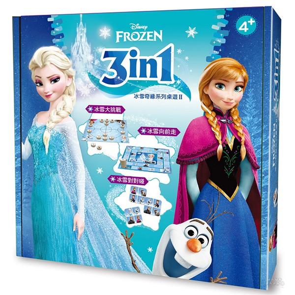 東雨 迪士尼DISNEY 3 in1桌遊:3in1冰雪奇緣系列桌遊 II