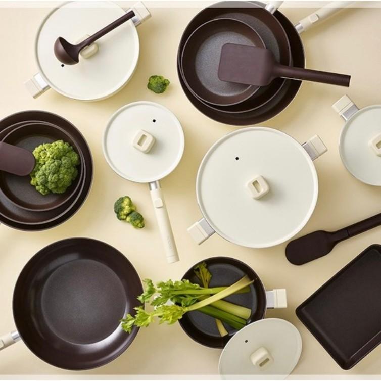 韓國Dr.HOWS LUMI系列鍋具 2021年新品 玉子燒鍋 不沾平底鍋 包含鍋鏟 平底鍋 炒鍋 IH爐適用 象牙白