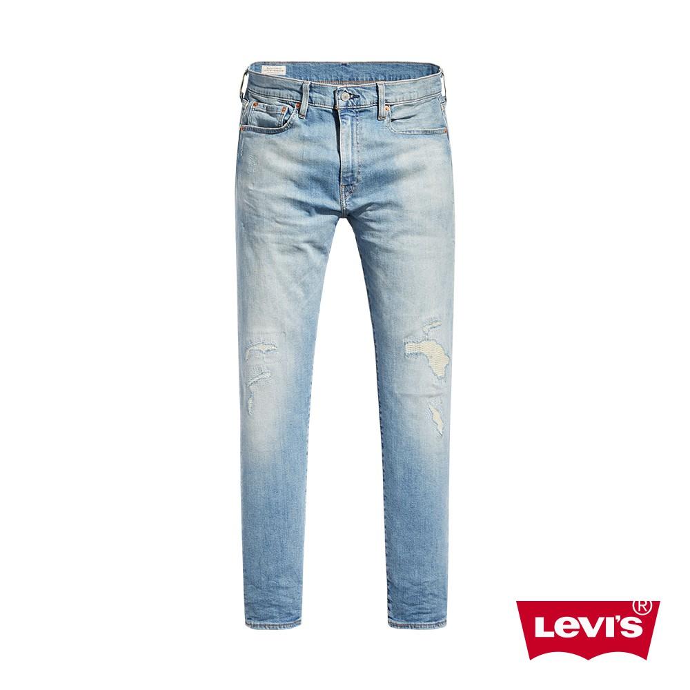 Levis 男款 上寬下窄 512 低腰修身窄管牛仔褲 / 復古補丁水洗工藝/彈性布料-熱銷單品 28833-0732