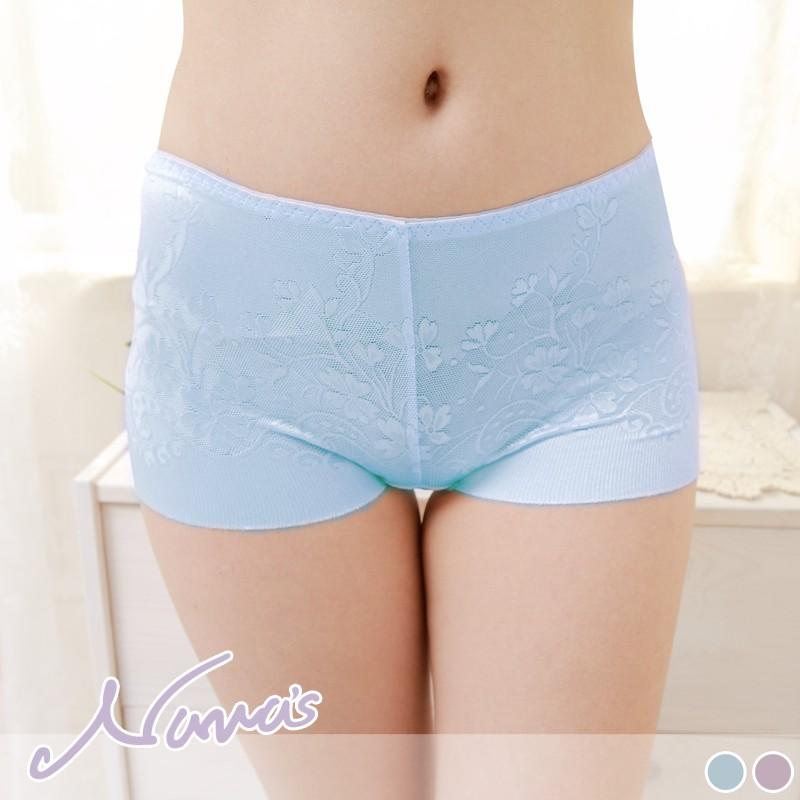 【露娜斯Nunas】鈦厲害緹花 M L XL 無痕女褲 P882 藍 紫