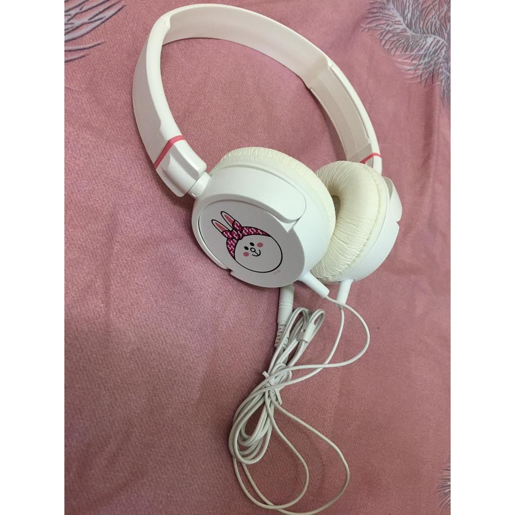 【全新商品】LINE 兔兔Cony 熊大Brown 耳機 功能正常 有線耳機 喇叭 音質好 造型可愛 適合外出攜帶