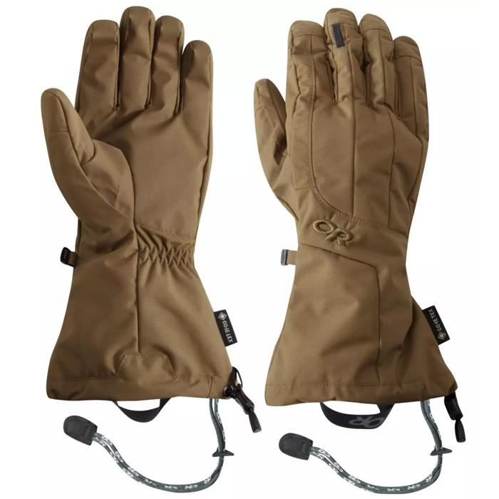【Outdoor Research 美國】Arete 二件式防水手套 滑雪手套 男款 土黃色 (271615-0014)