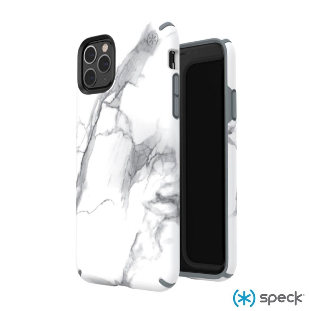 Speck iPhone 11 Pro Max Presidio Inked 大理石圖案 抗菌 防摔 保護殼 白/灰色