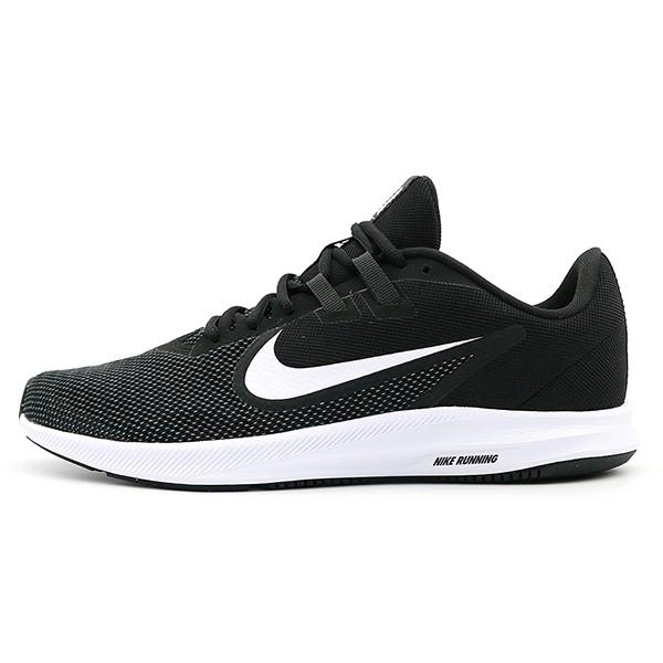 NIKE 【AQ7481-002】Downshifter 9 慢跑鞋 透氣網布 黑白 男生