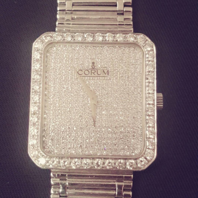 崑崙手工白金滿天星鑽錶  原鑲鑽 可交流勞力士18238原廠錶