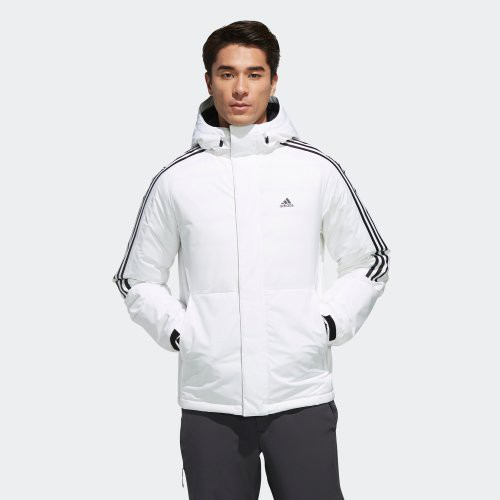 南 2019 11月 ADIDAS 3-STRIPES DOWN JACKET 白色 EH3994 羽絨外套 男款
